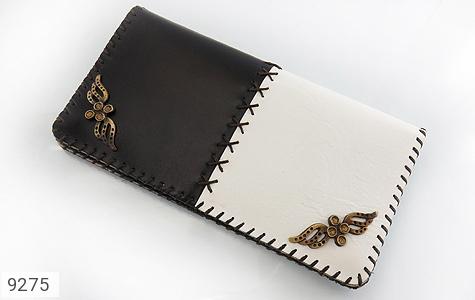 کیف چرم طبیعی طبیعی دو رنگ دست دوز زنانه دست ساز - 9275