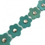 دستبند چرم طبیعی طرح گل بلند زنانه دست ساز