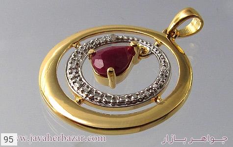 تصویر مدال یاقوت سرخ طرح دایره زنانه - شماره 1