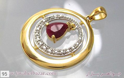 تصویر مدال یاقوت سرخ طرح دایره زنانه - شماره 3