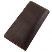 کیف چرم طبیعی تیره دست دوز اسپرت