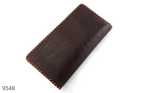 عکس کیف چرم طبیعی تیره دست دوز اسپرت