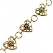 دستبند نقره زمرد و یاقوت زنانه