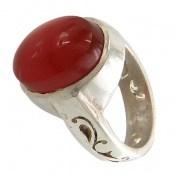 انگشتر نقره عقیق سرخ یمنی خوش رنگ مردانه