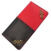 کیف چرم طبیعی دست دوز دو رنگ زنانه