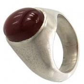 انگشتر نقره عقیق یمن خوش رنگ مرغوب مردانه