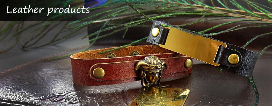 کلکسیون انواع دستبند چرم طبیعی