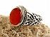 انگشتر نقره عقیق یمن خوش رنگ رکاب شبکه مردانه - 18258 - 1