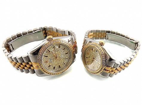 ساعت مچی ست بند دورنگ مجلسی Rolex - 18271