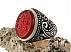 انگشتر عقیق یمن حسین منی و انا من حسین مردانه دست ساز-1