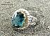 انگشتر نقره توپاز آفریقایی آبی یی شاهانه و کم نظیر مردانه دست ساز - 22244 - 1