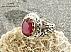 انگشتر نقره یاقوت آفریقایی سرخ یی سلطنتی و فاخر مردانه دست ساز - 22245 - 1
