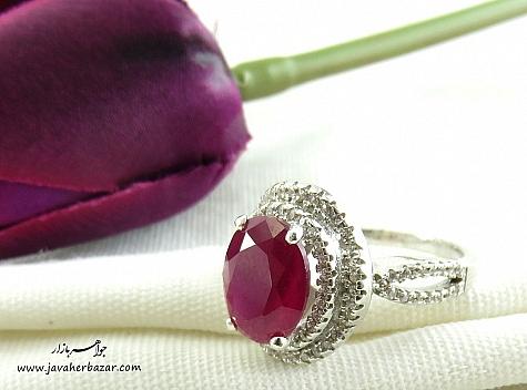 انگشتر نقره طرح مهرتاش زنانه - 22446