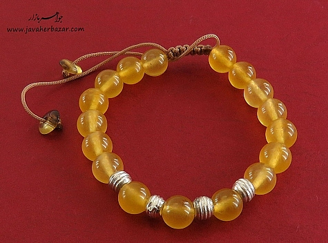 دستبند جید زرد جذاب زنانه - 23399