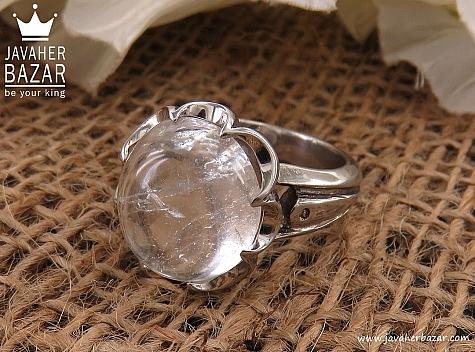 انگشتر نقره در نجف شفاف مردانه دست ساز - 24509
