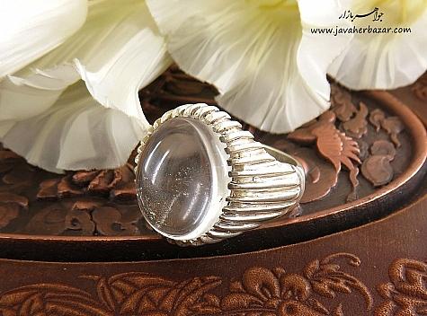 انگشتر نقره در نجف درشت مردانه دست ساز - 25095