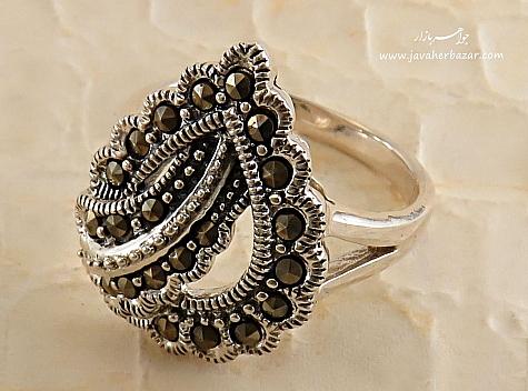 انگشتر نقره طرح محبت زنانه - 26995
