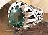 انگشتر نقره توپاز سلطنتی درشت مردانه - 27725 - 1