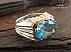 انگشتر نقره توپاز آبی درشت سلطنتی مردانه - 28435 - 1