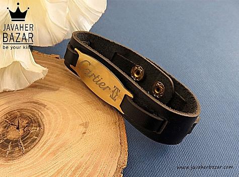 دستبند چرم طبیعی Cartier - 29604