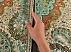 ترمه رومیزی سایز بزرگ سبز خوش رنگ - 29636 - 6