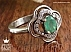 انگشتر نقره زمرد سبز خوش رنگ زنانه - 29740 - 1