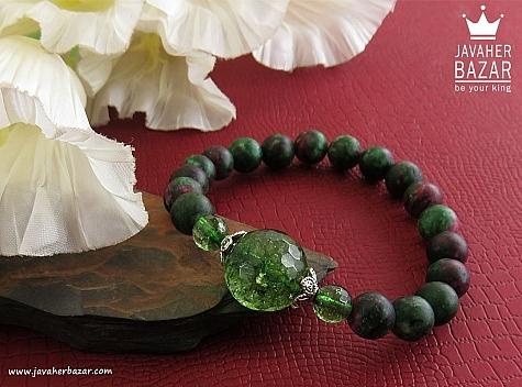 دستبند جید زیبا و ارزشمند زنانه - 30077