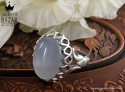انگشتر نقره عقیق یمن کبود خوش رنگ و زیبا مردانه - 30229