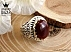 انگشتر عقیق یمن الماس تراش طرح سلطنتی مردانه دست ساز-1