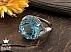 انگشتر نقره توپاز زیبا و خوش رنگ زنانه - 30352 - 1