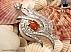 مدال نقره عقیق یمن طرح ملکه - 30550 - 1