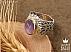 انگشتر نقره عقیق یمن خوش رنگ طرح سلطنتی مردانه - 30610 - 1