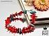 دستبند مرجان و فیروزه تبتی خوش رنگ زنانه - 31099 - 1