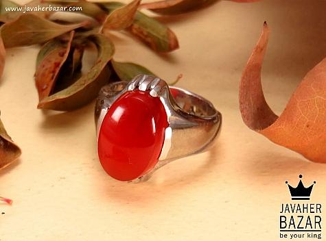 انگشتر عقیق یمن قرمز