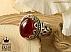 انگشتر نقره عقیق یمن درشت و سلطنتی مردانه - 31302 - 1