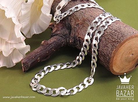 زنجیر نقره 50 سانتی حلقه ای - 31966