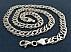 زنجیر نقره 49 سانتی - 31976 - 2