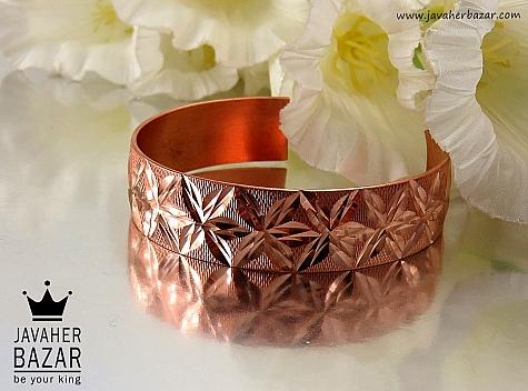 دستبند مس طرح گل زنانه - 32034