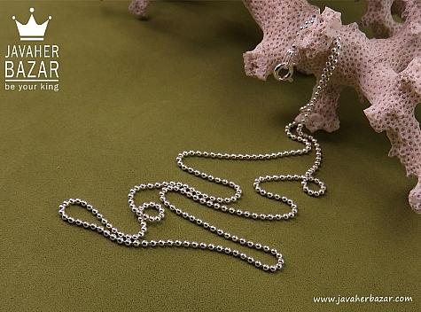 زنجیر نقره 50 سانتی زنانه - 32324
