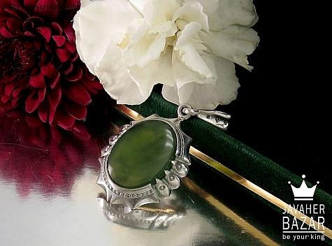 مدال نقره یشم زیبا - 32402