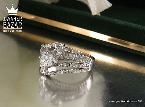 انگشتر نقره سولیتر زنانه - 32440