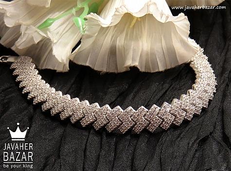 دستبند نقره طرح نازنین فاخر زنانه - 32568
