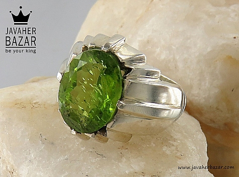 انگشتر نقره زبرجد سلطنتی مردانه - 32619