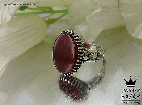 انگشتر نقره عقیق درشت و فاخر مردانه - 34400