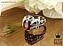 انگشتر نقره یاقوت آفریقایی سرخ دور اشکی مردانه - 34409 - 1