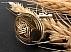 مدال نقره حدید حکاکی ستاره داوود - 34416 - 1