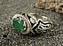 انگشتر نقره زمرد زامبیا طرح صفوی فاخر مردانه - 34460 - 1