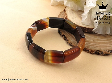 دستبند عقیق خوش نقش زنانه - 34500