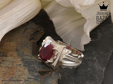 عکس انگشتر یاقوت قرمز مردانه