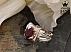 انگشتر نقره یاقوت آفریقایی سرخ سلطنتی مردانه دست ساز - 34613 - 1